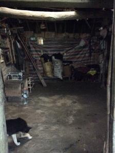 The interior of Bau's abode.