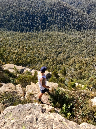 Views from Booroomba Rocks after hiking in Canberra, the nations capital. Check out our blog for your travel inspiration.