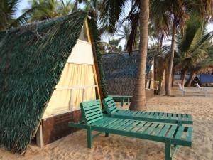 Beach huts on Uppeveli Beach, Sri Lanka | Explore more with Spirit Quest Travel
