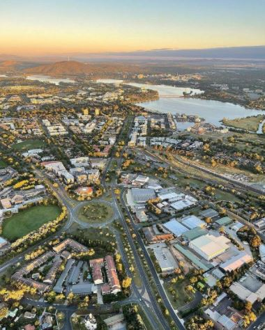 Canberra Aerial. Photo credit @jodysdiary